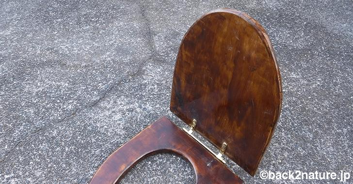 コンポストトイレの自作 7:木製便座用ヒンジ金具セットの入手、便座と便ふたの連結