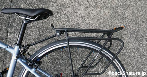 クロスバイクに荷台を取り付けた Ibera IB-RA4