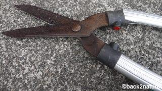 刈込鋏のアルミ柄が割れた時の対処