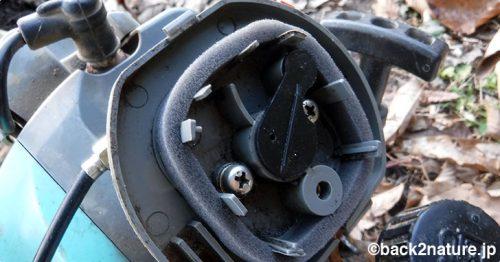 草刈り機のエアフィルターを交換する(HB-255HS)