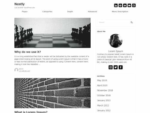 Neatly – free responsive WordPress theme
